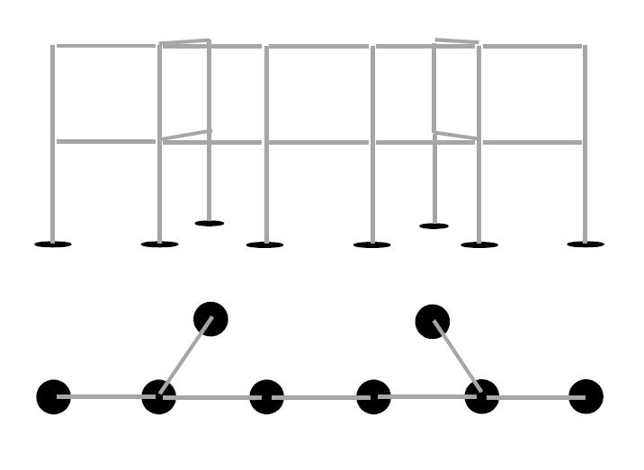 Fitlight Ständer 6m mit Verstärkungen